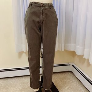 Zara Green Casual Khaki Pants